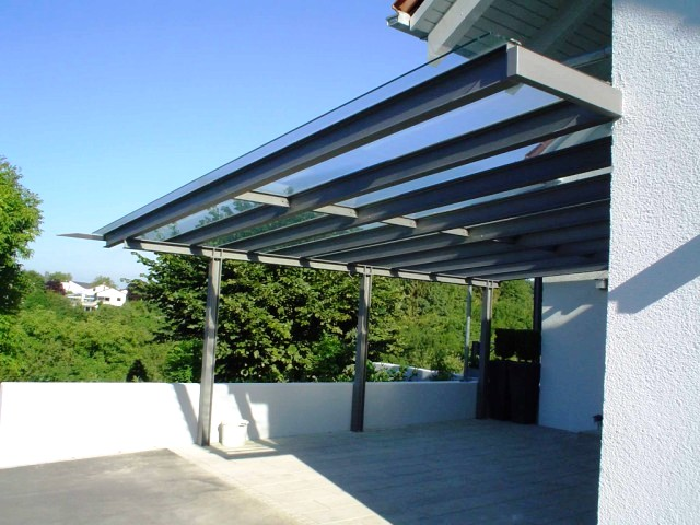 Carport in stahl glas konstruktion for Stahlbau carport